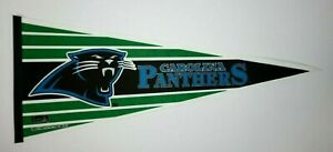 Vtg 1993 Carolina Panthers Felt Pennant, Inaugural Season, Trench Mfg, 30""