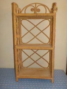Vintage Wicker Boho Hanging Wall Shelf