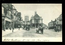 Wilts Wiltshire MARLBOROUGH Town Hall 1904 PPC E Lucy shop