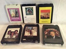 Lot of 6 Gospel Religious 8 track tapes Gaither Trio Jim Nabors Charley Pride ++