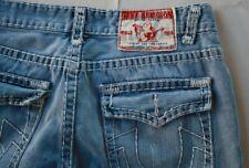True Religion Rainbow Joey 36X32 Distressed Denim Jeans