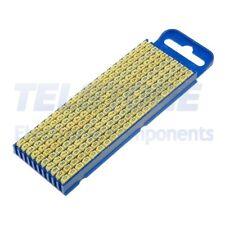 200pcs  Segna cavi per cavi e fili 2,8÷3,8mm plastica giallo