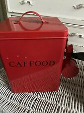 "Cat Food Tin Red - 6""x 8""x9"" Cat"