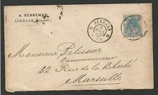 Pays-Bas Nederland 1904 timbre sur lettre oblit. Alkmaar /L2223