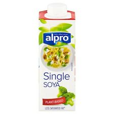 ALPRO SOYA SINGLE CREAM Dairy Free Healthy Vegan Vegetarian 250ml x 15 Boxes