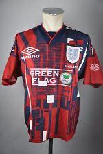 England Trikot Gr. S Umbro vintage 1997 Jersey EM WM Training 90s Green Flag