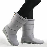 Winter Women Boots Mid-Calf Down Boots Female Waterproof Ladies Snow Boots Girls