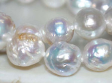 "baroque 18'"" AAA 12-13 MM SOUTH SEA NATURAL White PEARL NECKLACE AA++"