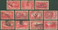 1912-13 US Issue Short Set of Parcel Post Stamps, SC #Q1-#12 Used, SCV $148.60