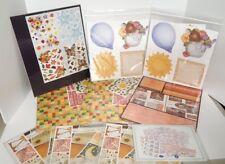 Creative Memories Harvest, Fall, Spring Journal Boxes Album Kit, Paper Lot of 10