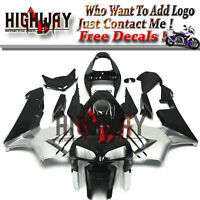 New Fairing Kit ABS Bodywork Cowling fit Honda CBR600RR F5 05 06 black silver