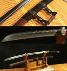 "41""DAMASCUS FOLDED STEEL CLAY TEMPERED HANDMADE JAPANESE SAMURAI KATANA SWORD"