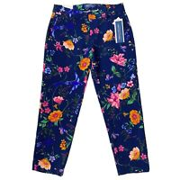 Old Navy Women's Floral Print Harper Mid Rise Ankle Pants Size 2