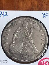 1842 Seated Dollar - XF