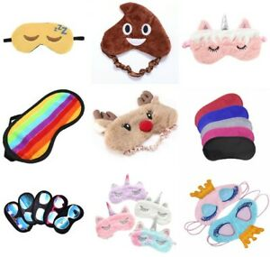 Eye Mask Travel aid Blindfold masks Soft sleep shade Mens Ladies Kids children's