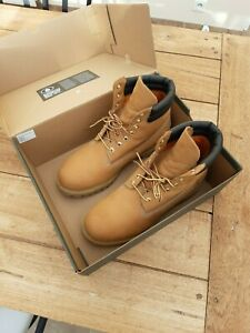 Homme Timberland Wheat Nubuck Cuir Bottes Taille UK 9.5/EU 44