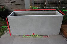 Garden Pots: 100cm Long Light Weight Concrete Planter Box.  RRP: $150 each