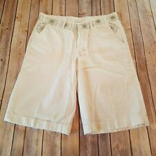 Galerie Cambodge Size M Womens Ivory Bermuda Shorts Boutique Fair Trade Asia