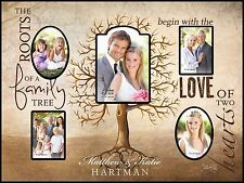 Personalized Laser Engraved FAMILY TREE Wood Photo Frame, Wedding/Anniversary