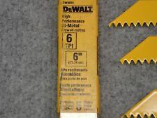 New DeWalt Bi-Metal Saw Blade 6 Tpi, (1) partial package of three blades, Nos
