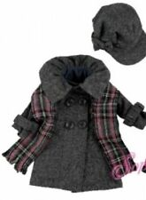 "3 Pc Beautiful Gray Coat, Hat & Scarf Fits American Girl Doll or other 18"" Dolls"
