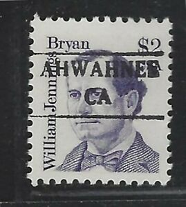 Dollar Denom Precancels - CA - Ahwahnee - 2195-882 - $2 Great American