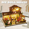 3D DIY LED Dollhouse Miniature Japanese Style Wooden Furniture Handmade Toy Gift