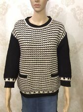 NEW M&S Indigo Ladies Casual Crew Neck Black Jumper Sweater Baggy Size 12