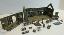 HO SCALE VINTAGE KITBASHED PARTIAL 2 BUILDINGS AND THE ACCESSORIES - LOT