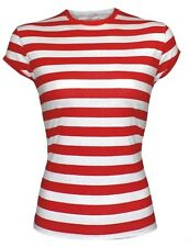 Cotton Blend Striped Tops & Blouses for Women