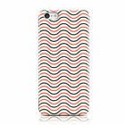 DYEFOR RED BLACK WAVE PATTERN CREAM CASE COVER FOR APPLE IPHONE MOBILE PHONES