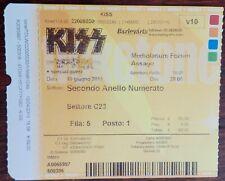 KISS - MILAN ITALY 18 06 2013 BIGLIETTO CONCERT TICKET MONSTER TOUR