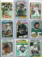 Eagles All-Time Greats  Vintage Lot of (25) Different w/ Rookies Robinson Bergey