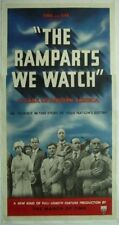 Original 1940 RAMPARTS WE WATCH 3 Sheet LINEN BACKED Andrea King MARCH OF TIME
