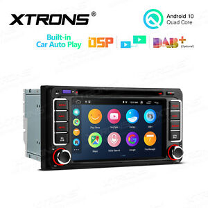 """6.2"""" Android 10 Car DVD GPS Radio Stereo DSP RCA 32GB for Toyota Hilux 2001-2011"""