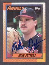 1990 TOPPS #14  Mike Fetters  LA CALIFORNIA ANGELS  SIGNED AUTOGRAPH AUTO COA