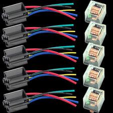 Car Trunk 12V 5PCS 80A 80AMP SPDT Transparent Relay & Socket 5Pin 5P