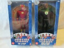 """2003 JUSTICE LEAGUE 10 INCH """"THE FLASH"""" & """"GREEN LANTERN OPENED IN ORIGINAL BOX"""