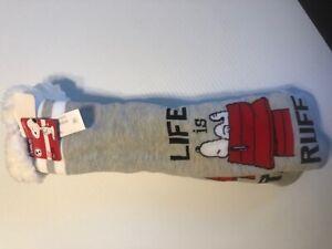 Slipper Sock Snoopy No-Slip Slipper Socks Size 9-11 Shoe NWT USA Seller