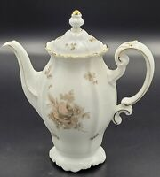 "Johann Haviland Bavaria Germany ""SEPIA ROSE"" Coffee/Tea Pot"