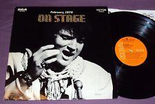 ON STAGE - ELVIS PRESLEY - ORANGE - FLEXIBLE - ALBUM - LP - VG/NM-