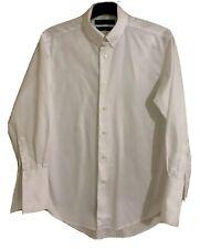 Mens RHODES & BECKETT Egyptian Cotton French Cuff White Shirt. Size 40. EUC