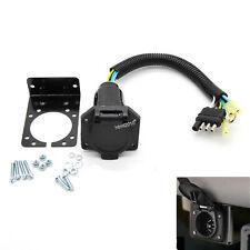 RV Trailer Converter Connector Wiring Plug & Bracket Car Truck Trailer Hitch
