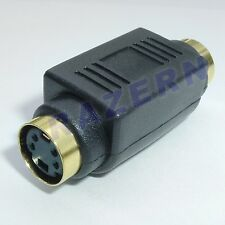 NEW S-Video/SVideo/SVHS cable female coupler adapter
