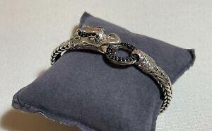 John Hardy Legends Naga Black Sapphire Station Bracelet MSRP$1100