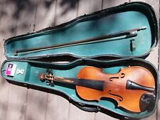 Violin 1/2 size w/ Case Glasser Bow Glaesel Rosin WELL LOVED As Is 4 Restoration