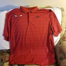 CHICAGO BULLS POLO SHIRT - 2XL - NIKE DRI-FIT