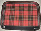 VIntage 1960s Grasshopper Retro Red  Black Tartan Plaid Cloth Suitcase Luggage