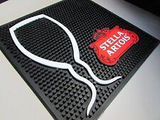 NEW 12x12 Stella Artois Large Beer Rubber Bar Spill Mat Matt Pint Glass Import