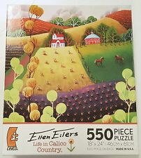 550PC ELLEN EILERS LIFE IN CALICO COUNTRY JIG SAW PUZZLE 550 PIECE USA MADE